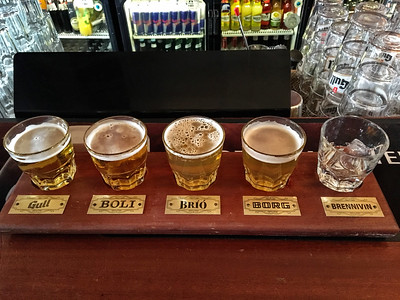 A Flight of Icelandic Beers At The English Pub