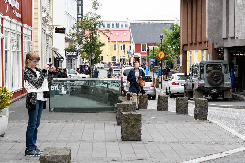 Main Street of old town Reykjavik