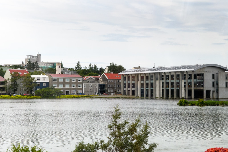 Tjornin (The Pond) and Radhus (City Hall,) Reykjavik
