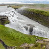 Gullfoss, or Golden Waterfall on Hvita River