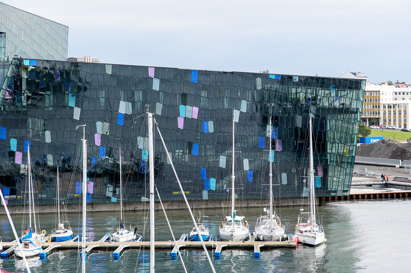Reykjavik Harbor and the Harpa Concert Hall