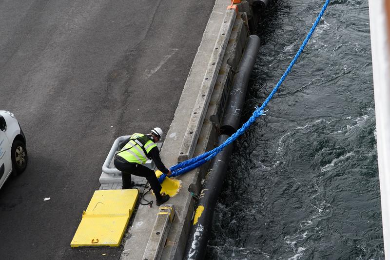 Leaving the dock in Reykjavik