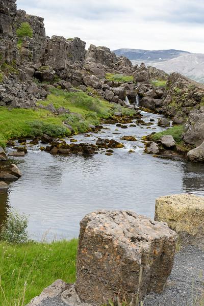 Thingvellir National Park.  Oxara River.