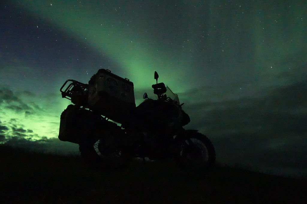 Made up with a display of the Northern Lights.