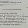 Explanation of Sigurdur Gudmundsson's egg exhibit at Djupivogur.