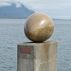 One of the 34 eggs sculpted by Sigurdur Gudmundsson for his egg exhibit at Djupivogur.