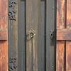 Detailed door hinges, key hole, and handle of the Grafarkirkja.