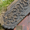 Unusual carved wood decorations are thought to have been the work of a noted seventeenth century wood carver named Guðmundur Guðmundsson who lived 1614-1674 and worked in the area.