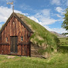 Grafarkirkja turf church was originally built in the seventeenth century on the site mentioned in earlier sagas.  It was completely rebuilt in 1953 and reconsecrated and became part of the National Museum of Iceland.  The weather vane has the date 167_  with the last number missing.