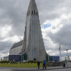 Hallgrimskirkja, Lutheran church well-known in Reykjavik, was constructed of concrete between 1945-1986.  The columns, representing basalt formations, have deteriorated and are undergoing repair.