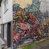 One of many street/wall murals in Reykjavik.