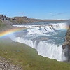 Spray from the Gullfoss (Golden Falls) produces lovely rainbows when the sun shines!<br /> June 11, 2017