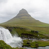 Krikjufell - volcanic plug - most photographed mountain in Iceland - but wind and rain made photographing nearly impossible.<br /> June 20, 2017.