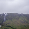 Waterfalls having trouble falling due to the very strong wind!!  Seen from route 54 turn at Froda. <br /> June 20, 2017