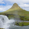 Kirkjufell- volcanic plug - most photographed mountain in Iceland.  Weather conditions were much better early afternoon on June 21, 2017.
