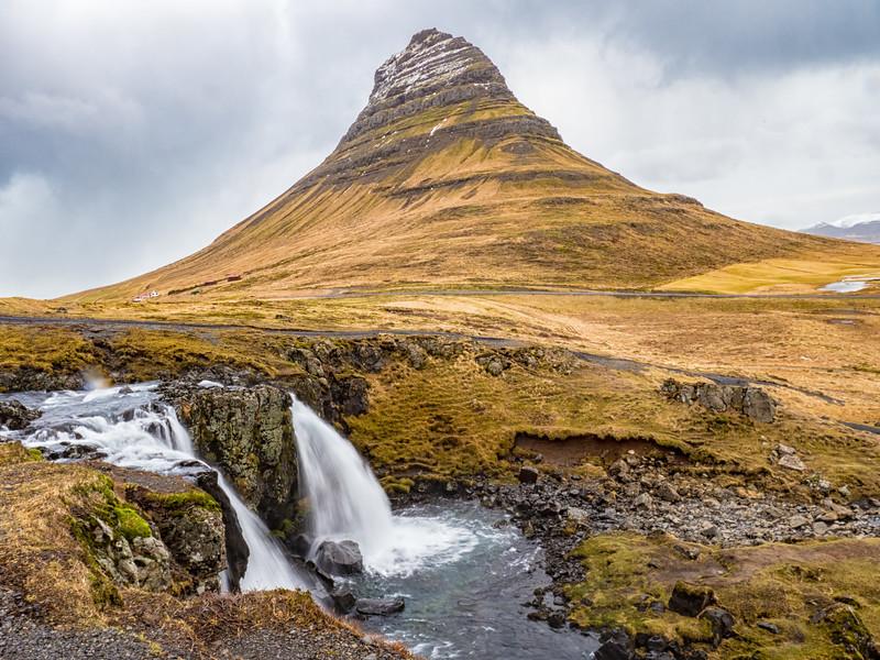 Kirkjufellsfoss (Kirkjufells Falls) and Church Mountain