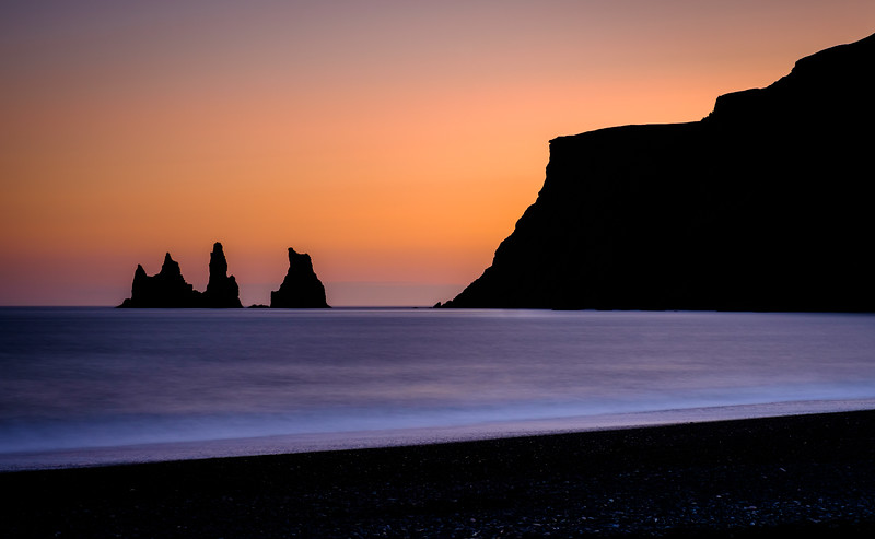 Sunset Vik Iceland