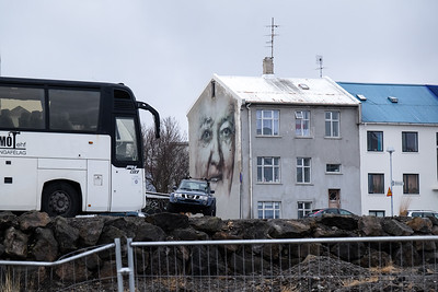 Walking the streets of Reykjavik, Iceland.