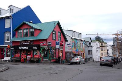 Colorful street corner.