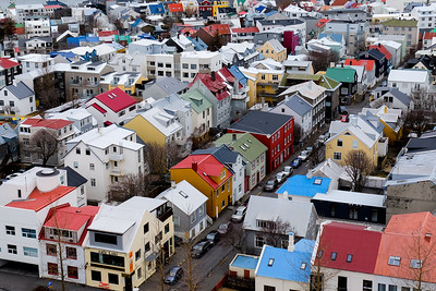 Colorful houses of Reykjavik.