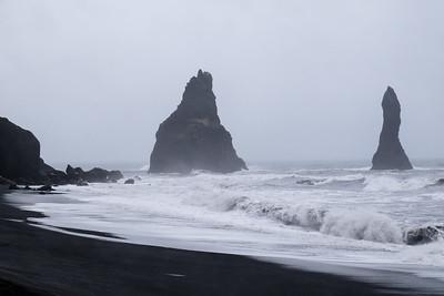 Angry seas...