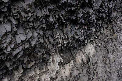 Volcanic rock looks like shale.