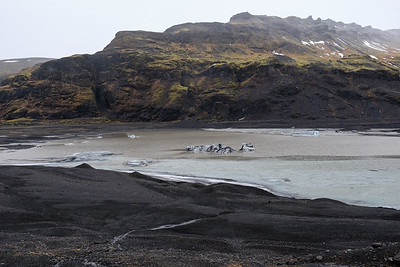 The Glacier is leaving behind a Lagoon as it retreats.