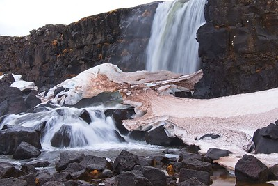 The Oxarafoss falls 44' into the Almannagja gorge.