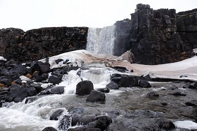 Oxararfoss waterfall.