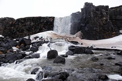 Oxararfoss waterfall.
