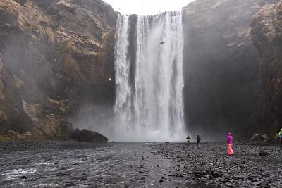 197' drop of the  Skogafoss waterfall.