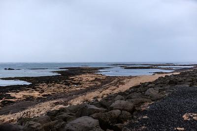 Beach in the fishing village of Stokkseyri.