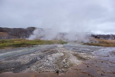 At the Geysir Geothermal Field, Iceland.