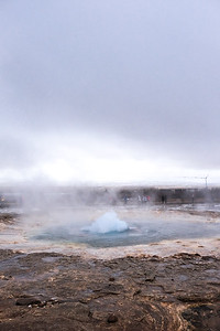 "The ""mighty"" Strokkur starting to bubble up...."