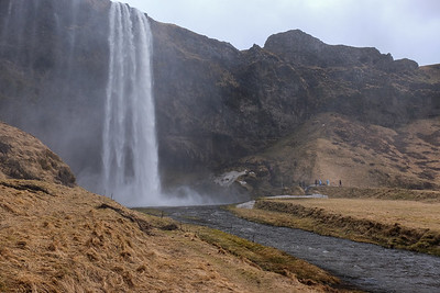 On a non-icy day you can walk behind this waterfall.