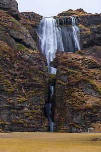 """The Gljufrafoss - """"Hidden Waterfall"""" or """"Canyon Dweller""""."""