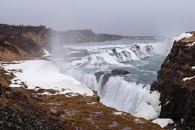 """Gullfoss - """"the Golden Waterfall"""" - Iceland."""