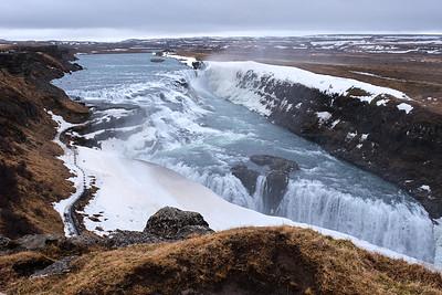 """Gullfoss - """"the Golden Waterfall""""."""