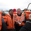 Alicia and Sanjeev with glacial ice fished out of the lagoon. Tasty!
