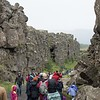 Gulch between tectonic plates, Þingvellir National Park on Golden Circle bus tour