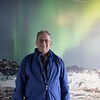 Fake picture of me in front of Northern Lights in August
