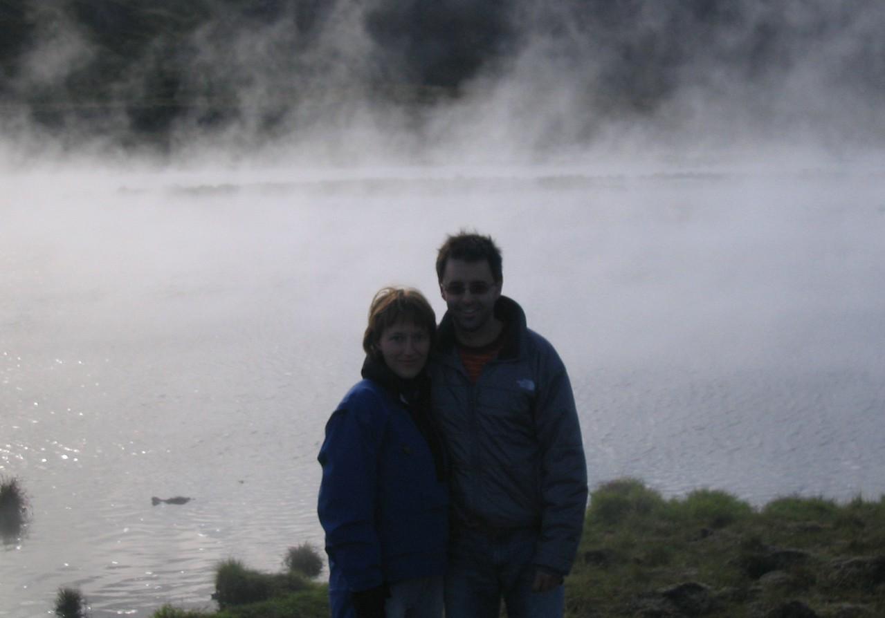 Steaming lake