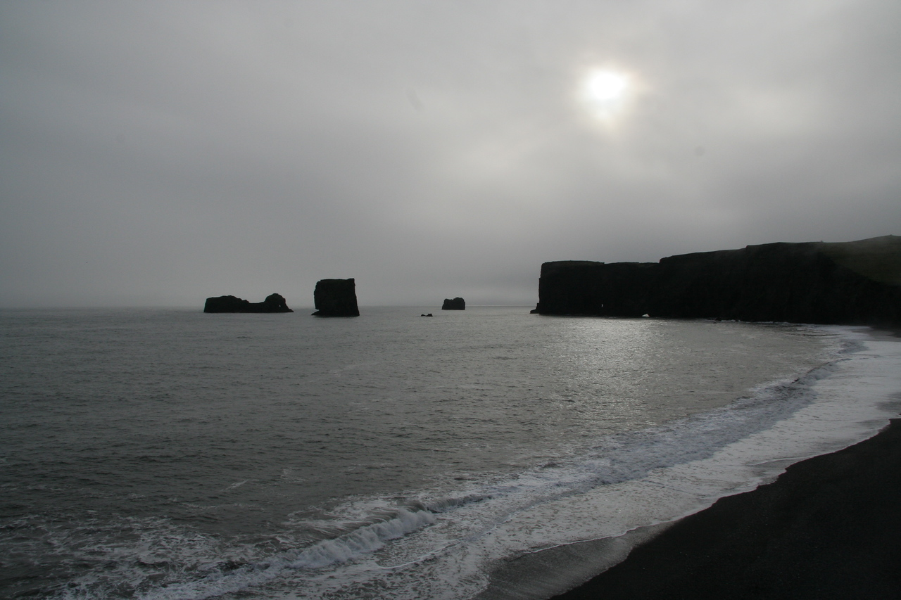 The southern tip of Iceland