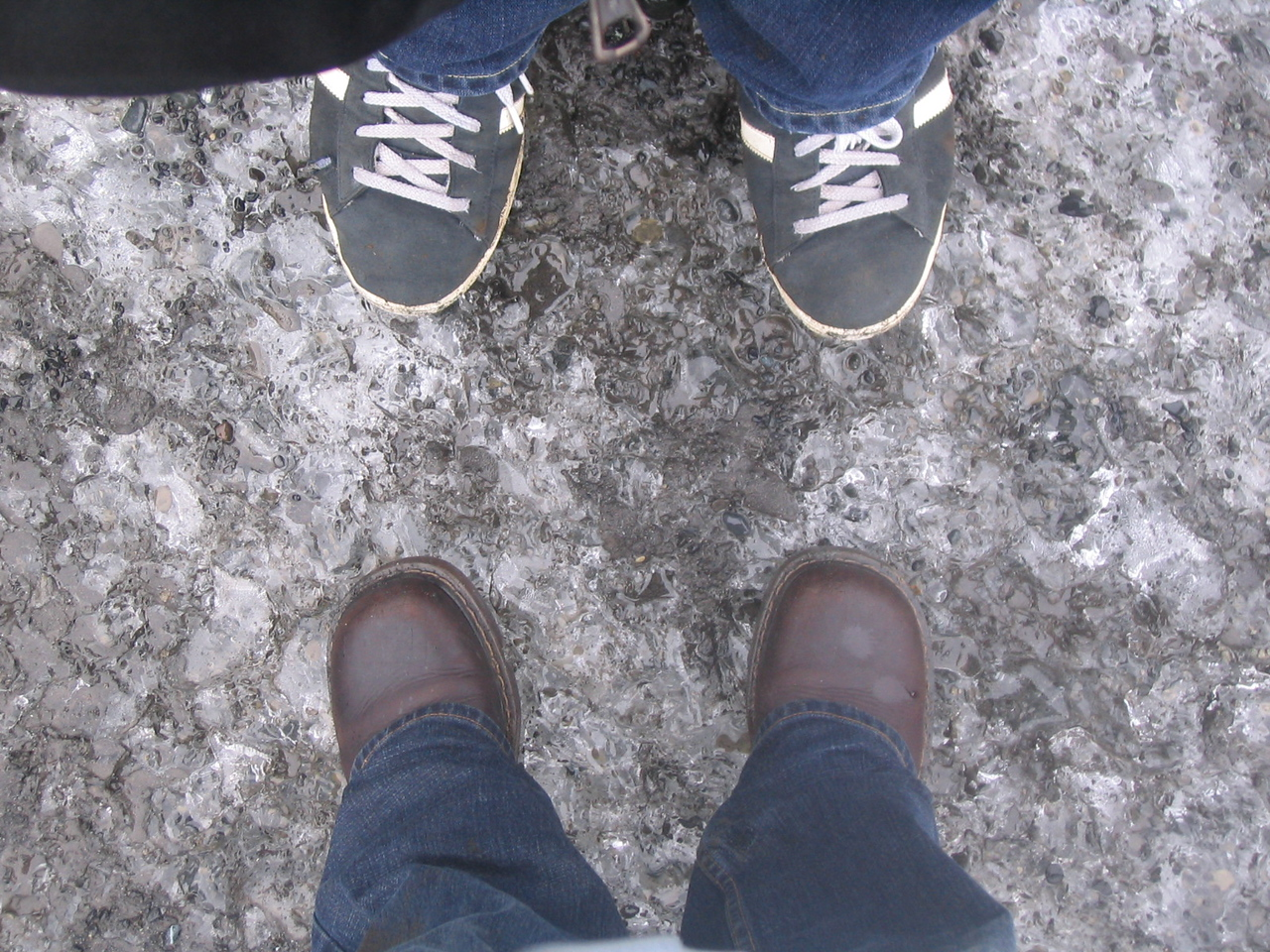 We're on the glacier