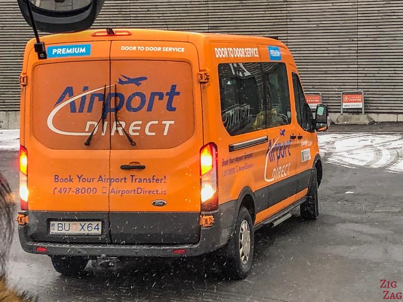 Navette directe de l'aéroport de Reykjavik
