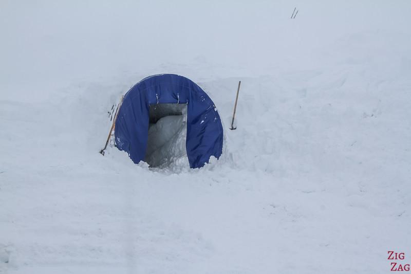 tunnel de glace de Langjokull Islande - entrée