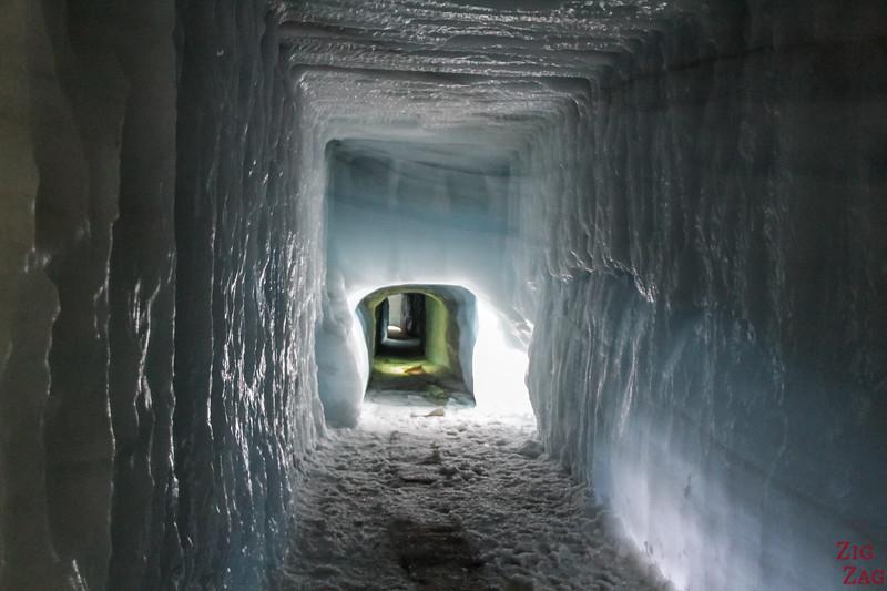 Into the Glacier tunnel