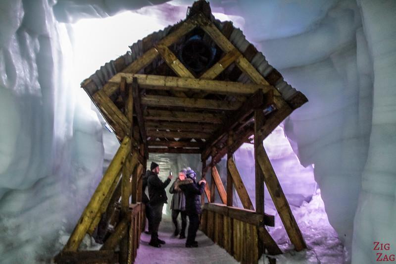 tunnel de glace de Langjokull Islande - crevasse