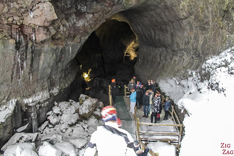 Entrance Vidgelmir Cave