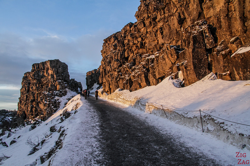 Almannagja-Schlucht Thingvellir winter 4